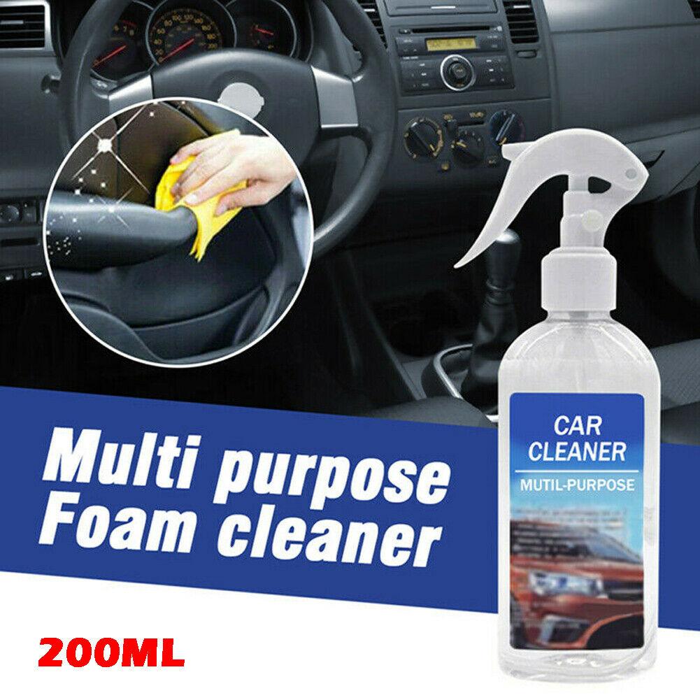 200ml multi-funcional espuma líquido de limpeza de água de uso completo carro interior universal auto carro agente de limpeza produtos químicos de limpeza