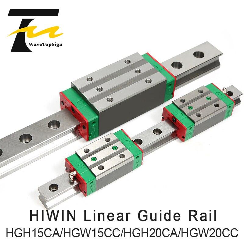 HIWIN 2 قطعة HGR15 HGR20 مربع دليل خطي السكك الحديدية + 4 قطعة HGH15CA HGH20CA /Flang HGW15CC HGW20CC نك راوتر النقش