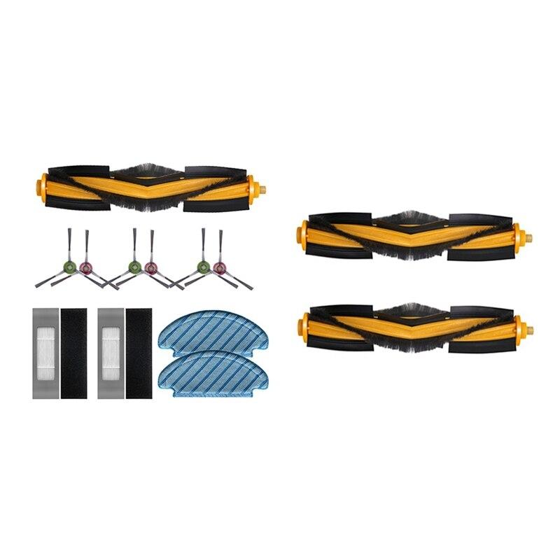 ممسحة القماش فرشاة جانبية فلتر HEPA فرش الرئيسية مع 2 قطعة فرشاة الأسطوانة ل Ecovacs Deebot Ozmo T8