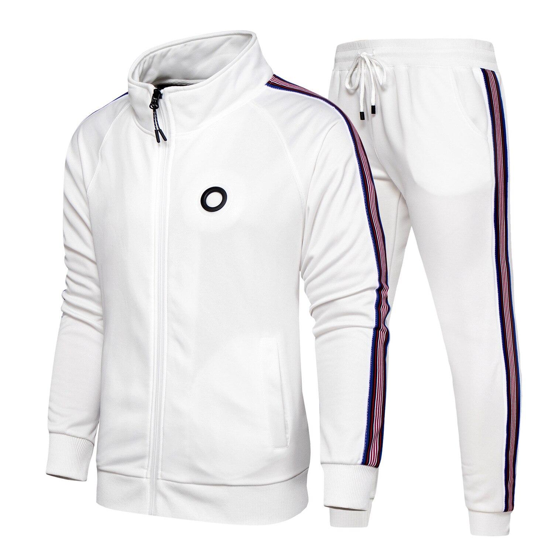 2021 ملابس رياضية رجالية الربيع ملابس رياضية رجالية من قطعتين الوقوف طوق سترة البلوز السراويل عداء ببطء بذلة رياضية الجري