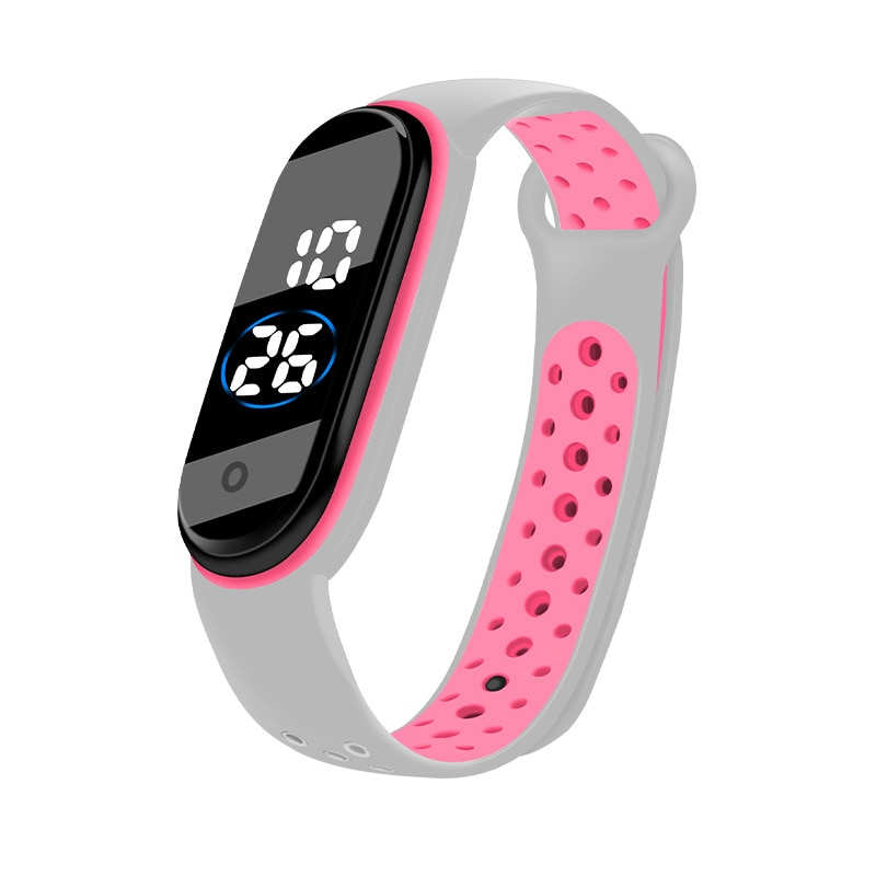 Fashion LED Sport Women Watches Colorful Strap Silicone Electronic Girls Kids Watch Men Student Digi