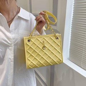 Luxury Shoulder Bags for Women 2021 New Chain Handbags Ladies Diamond Lattice Crossbody Bag Fashion Elegant Underarm Bags Purses