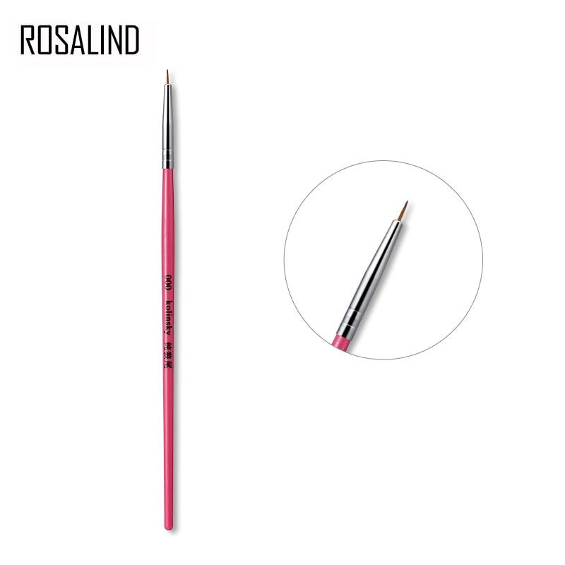 ROSALIND Manicure Tool For Acrylic Powder Painting Dotting Nail Art Design Manicure Brushes Nail Brush Set