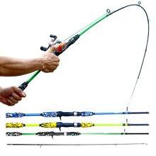 Canne à pêche Spinning en fibre de carbone, ultralégère, Super Mini, au leurre de pêche, 1.5M, 1.7M, siège