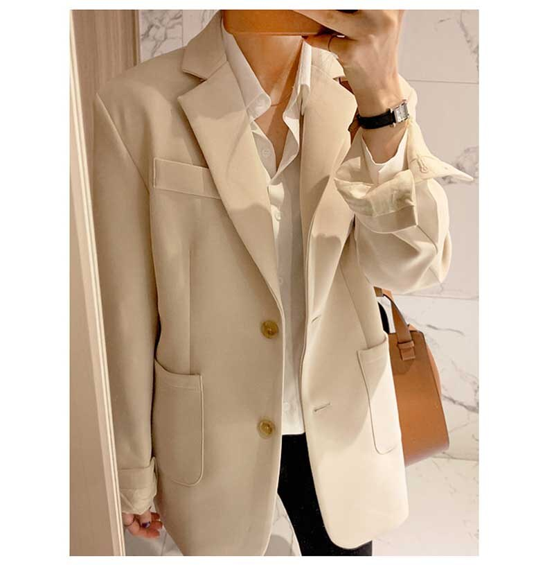 Hot Sale Elegant Slim OL 2020 Female Plus Size Casual Stylish Autumn All Match Coat Office Lady Jackets Blazers