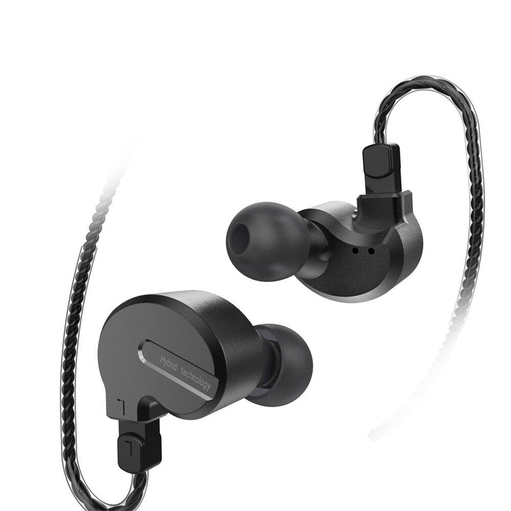 BQEYZ KB1 Triple controlador intrauditivo, Auriculares deportivos, Monitor de estéreo HiFi, Cable desmontable de 0,78mm con micrófono