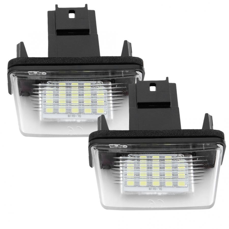 2pcs 18 LED Left&Right Car License Plate Light Lamp for Citroen C3 2002-2009 for Peugeot 206 207 307 308 406 407