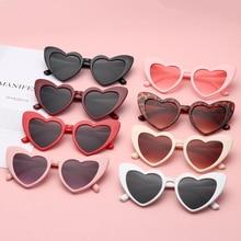 Heart Sunglasses Women Brand Designer Cat Eye Sun Glasses Female Retro Love Heart Shaped Glasses Lad