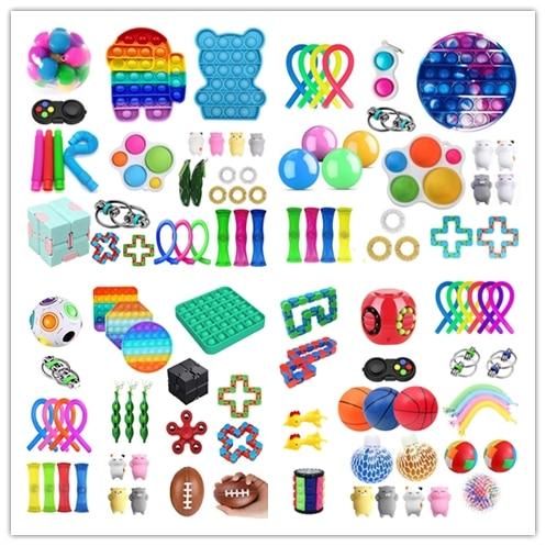 Fidget Toys Pack Anti Stress Set Kawaii Gift Toys Box Children Simple Dimple Antistress Relief Figet Toys Pakket Kit Dropship