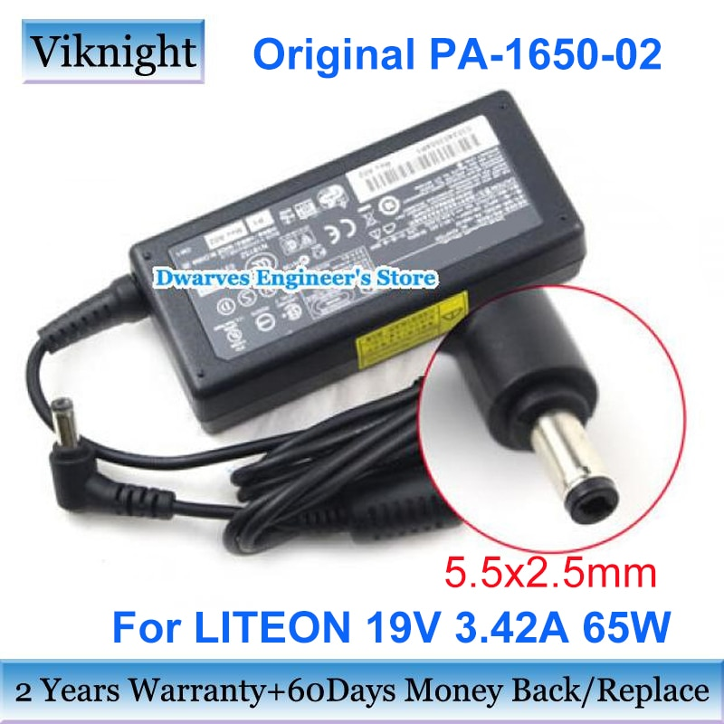 Genuine DELTA adapter charger ADP-65JH-BB 19V 3.42A 65W ac power laptop adapter LITEON PA1650-65 PA3467 For ASUS X54H X54C A52