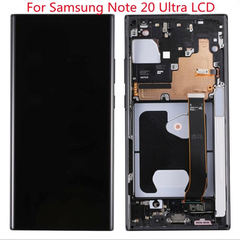 الأصلي لسامسونج نوت 20 الترا LCD لسامسونج غالاكسي نوت 20 الترا عرض SM-N985F N985F/DS N986B 5 جرام شاشة تعمل باللمس محول الأرقام