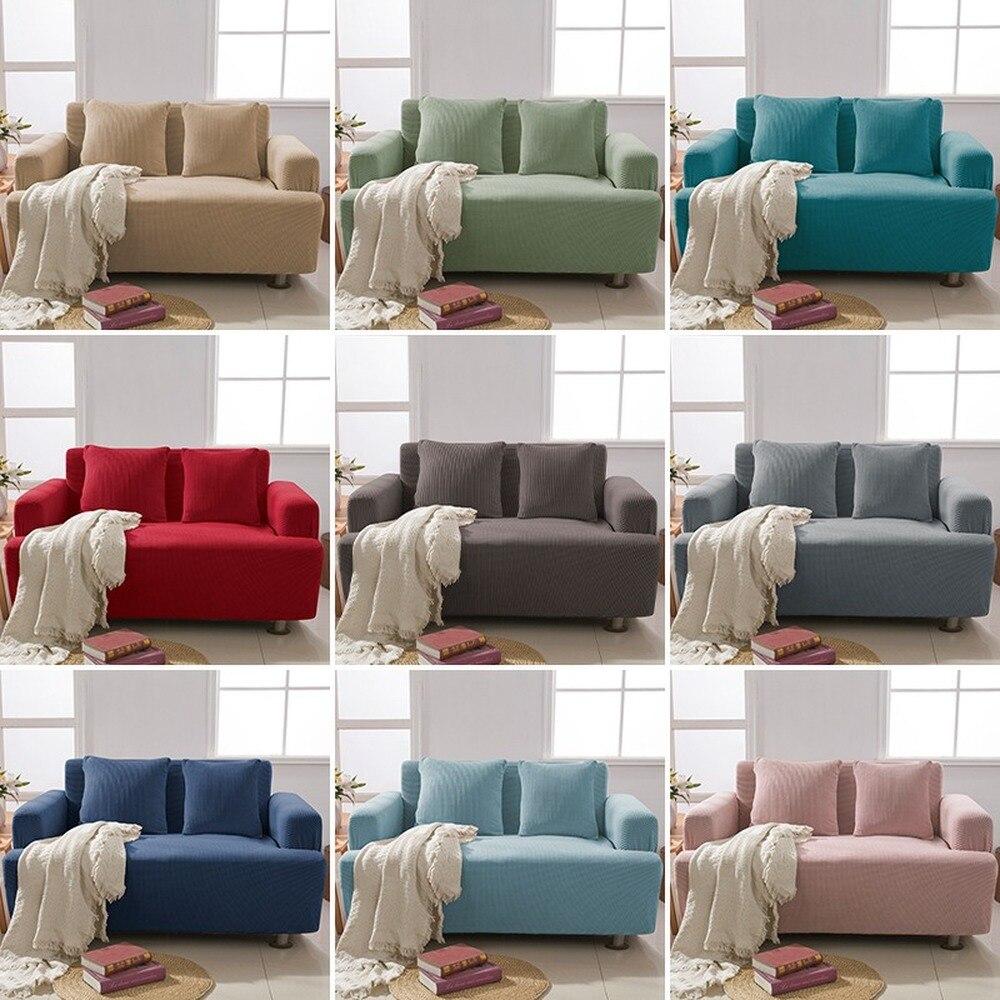 غطاء أريكة مطاطي من الجاكار لغرفة المعيشة ، غطاء أريكة مقطعي ، واقي أثاث 1/2/3/4 مقاعد