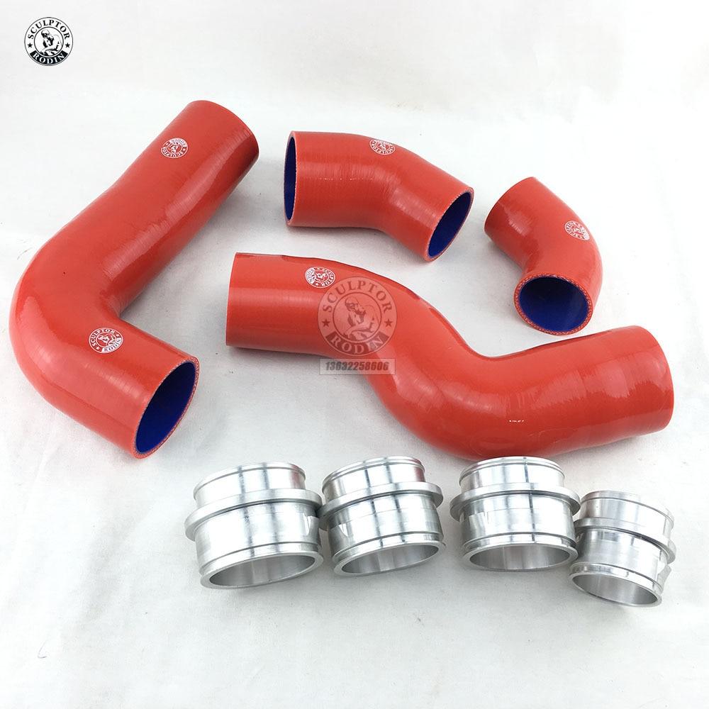 Silicone Turbo Intercooler Pipe Hose Kit For V W Golf Mk5 Mkv Fsi 2 0t Gt I 4pcs Red Blue Black Aliexpress