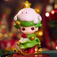 specific character dimoo christmas series opened blind box kawaii toys doll cute anime figure gift home decoration accessories