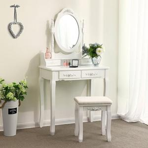 Nordic Minimalist Dressing Table Set Bedroom Cosmetic Table Modern Bedroom Storage Table With Chair Mirror Bedroom Furniture