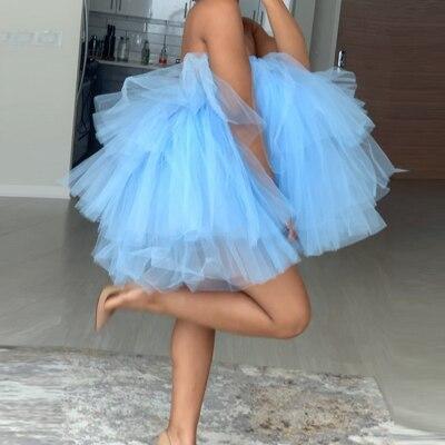 Новое поступление Пышное с оборками Многоярусное бальное платье-пачка с эластичной резинкой на талии, фатиновые платья для дня рождения, ве...