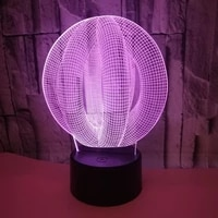 abstract circle spiral bulbing 3d led light hologram illusions 7 colors change decor lamp best night light gift for home deco