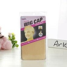 Ishow Brown Wig Cap Hairnet Hair Mesh Wig Weaving Cap Stretchable Elastic Hair Net 2Pieces/PACK