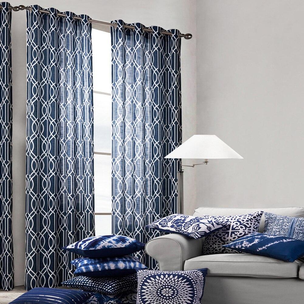 Cortinas impresas para sala de estar, decoración del hogar, cortinas de lino para ventana, Patio, puerta, baño Floral, balcón con estilo, 2 unidades