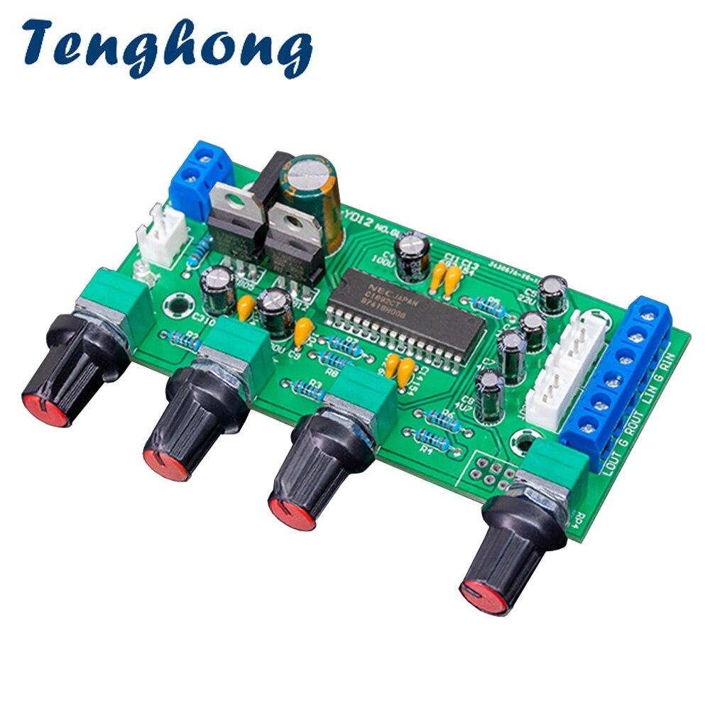 Tenghong upc1892 tone placa de pré-amplificador de potência 12 v alta fidelidade pré-nível de controle de tom preamp board para amplificador de som de teatro em casa diy