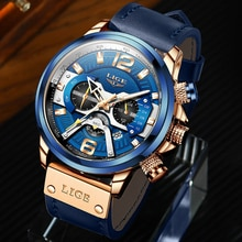 2021 LIGE Watch for Men Top Brand Luxury Military Leather Wrist Watches Casual Sports Mens Clocks Fa