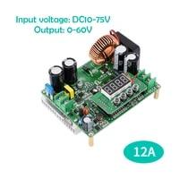 adjustable digital display 12a high power dc buck module 60v power supply cnc 24v converter host computer communication