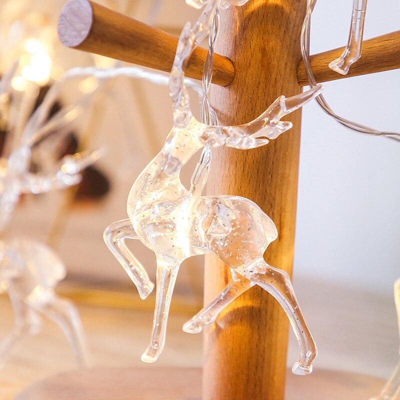 Рождественская гирлянда с оленями, гирлянда с питанием от аккумулятора, светодиодный ная гирлянда с оленями, украшение, новогодний декор 2022