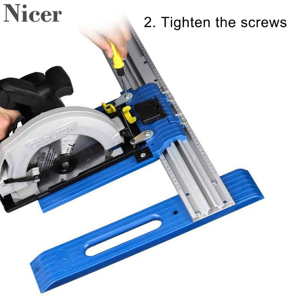 Electric Circular Saw Fixed Rail Slide Aluminum Cutting Bracket Sliding Fixed Rail Woodworking Water And Electricity Tools