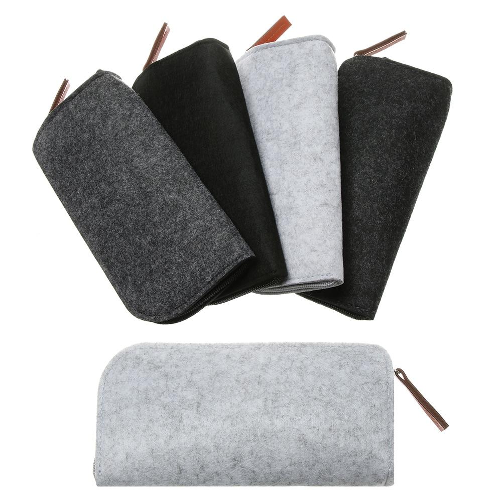 1 pieza de estuche de tela de fieltro de lana suave portátil para gafas de sol para mujer