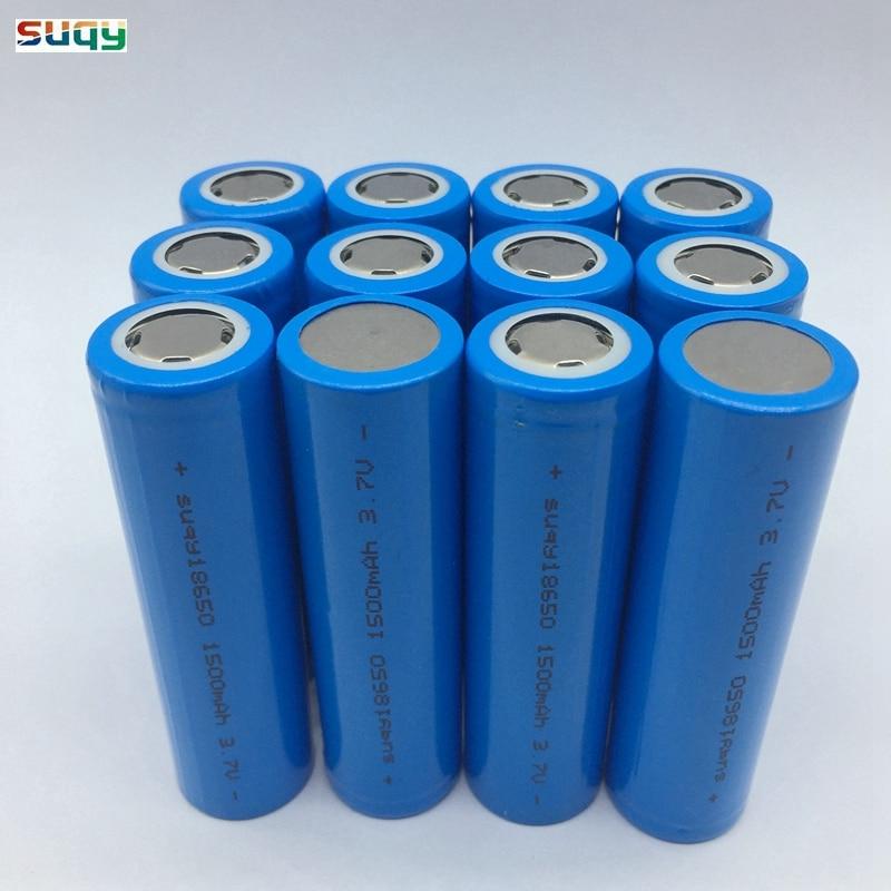 Suqy 20 шт./лот 100% новая Оригинальная батарея 18650 3,7 v 1500mAh inr18650 аккумулятор аккумуляторная батарея для банка питания оптовая продажа