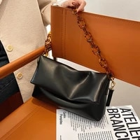 luxury brand bags fashion handbags women bags pure color soft pu leather chain diagonal bag casual shoulder bag satchels purses