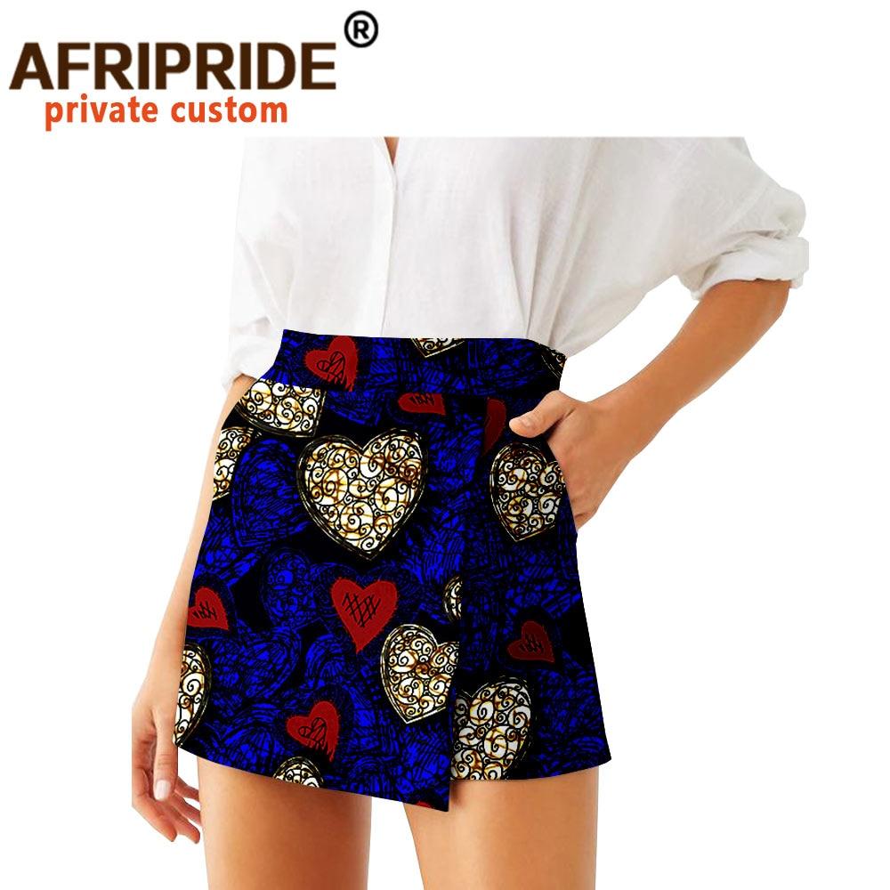 2020 Summer Women Shorts Skirts Fashion Loose High Waist Shorts Ankara Casual Short Culotte African Print Clothes Wax A2021007 women s active high waist wave point culotte