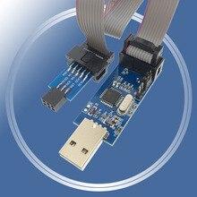 1 conjunto 10pin para 6 pinos adaptador placa + usbasp usbisp avr programador usb atmega8 atmega128 attiny/can/pwm 10pin módulo de fio