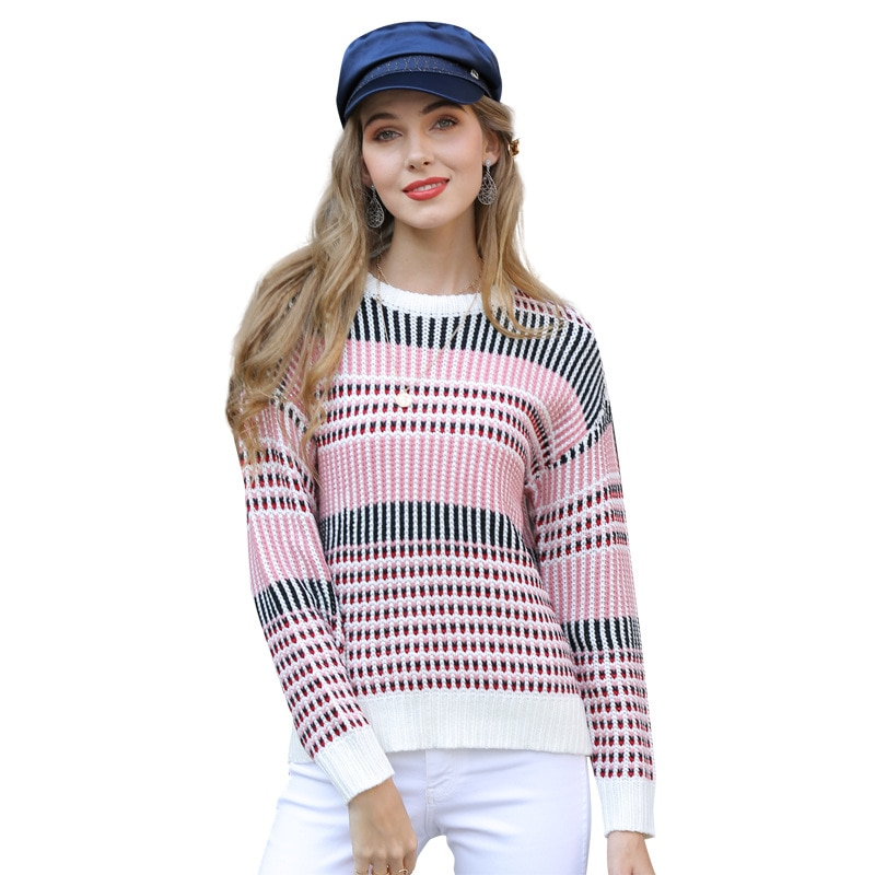Women Autumn Winter Warm Sweaters Luxury Fashion Bohemian Sexy Clothing 2020 New Casual Sweet Elegant Long Sleeve Clothes Cotton