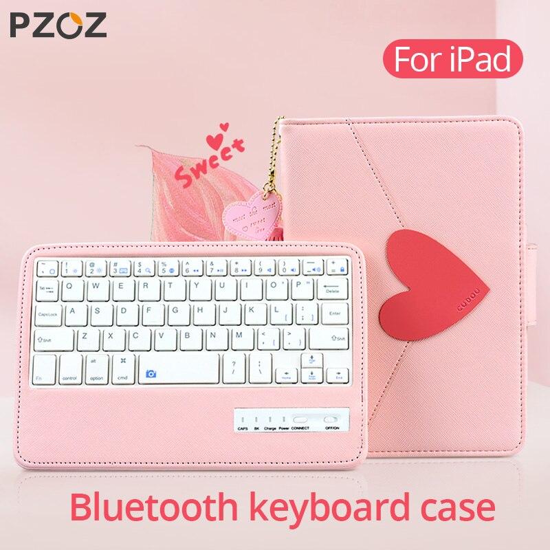 Чехол PZOZ для Apple iPad Pro 9,7 10,5 10,2 дюймов 2019 2018 iPad mini 5 4 3 Air 1 2, защитный чехол с Чехлы C клавиатурой bluetooth