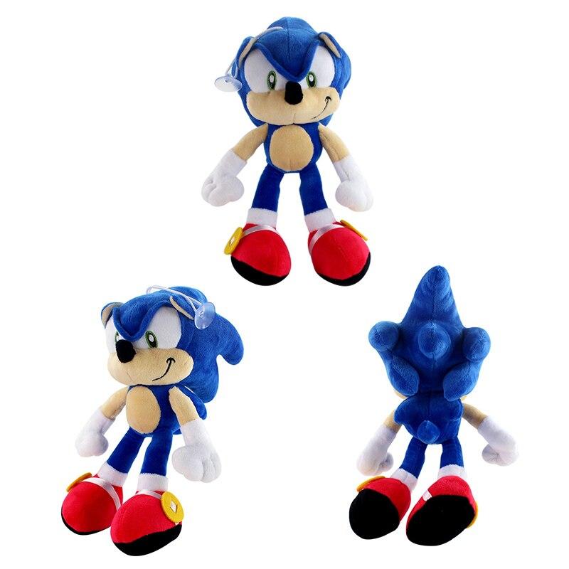 Sonic Boom-Peluche de dibujos animados, sombra azul, Sonic, Peluche suave, muñeca de regalo de cumpleaños para niños, 20cm