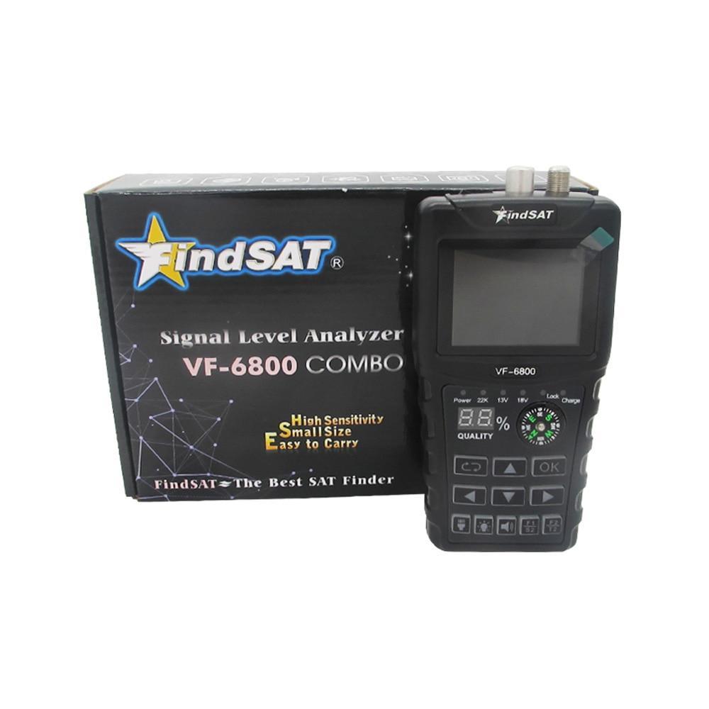 Hd digital localizador de satélite, suporte de combo DVB-T2/dvb s2/dvb c sat finder meter para receptor de tv por satélite afinador dvb t2