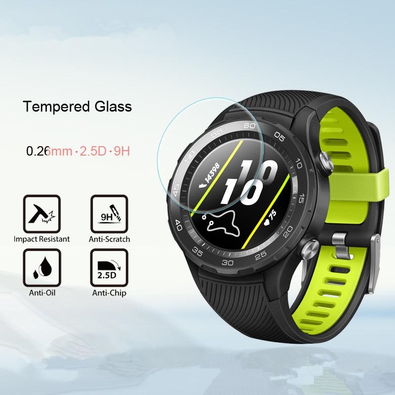 2 pcs 2.5D ver Protector de pantalla de vidrio templado para Huawei Watch2 2018 /watch2 pro/honor ver magia película protectora