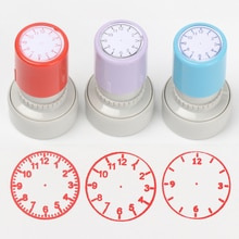 Plastic Clock Dial Stamp Student Teaching Tool Learning on Watch Student Math Teaching Tools Seal Of