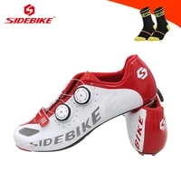 sidebike professional carbon fiber road bike cycling shoes men women ultra light self locking breathable racing bicycle sneakers