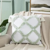boho style 4545cm tufted embroidery sofa throw cushion cover office home pillowcover with tassel outdoors pillowcase 40833