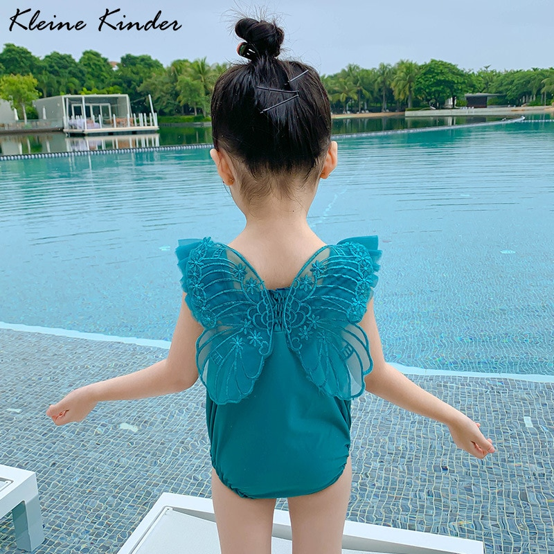 new style 2017 lovely kids one piece swimwear girls brand swimsuit children bathing suit little girl swimsuit baby swimwear New 2021 Baby Girl Swimwear One Piece with Cap High Quality Swimsuit for Toddlers Lace Children's Bikini Girls Bathing Suit Kids