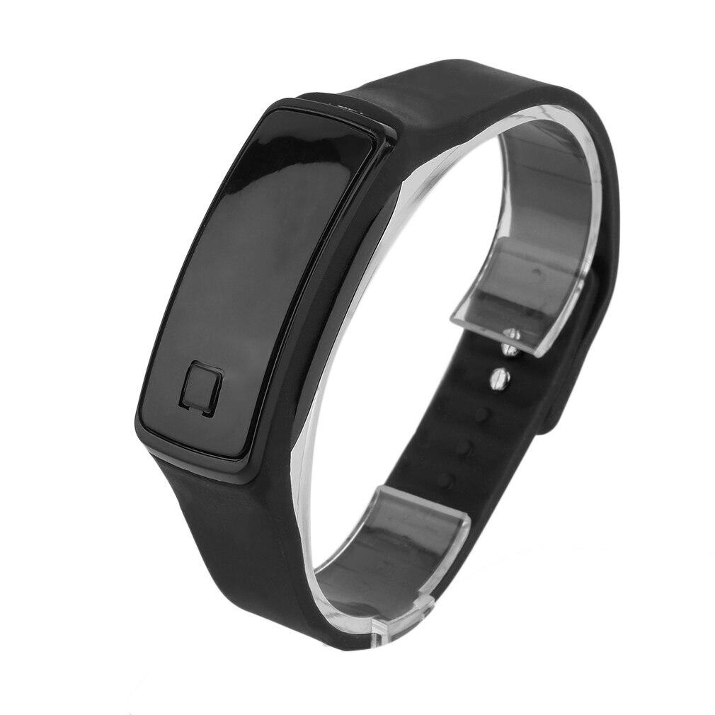 Korean Style Fashionable Men Women Lovers LED Touch Screen Digital Smart Watch TPU Sport Data Time D