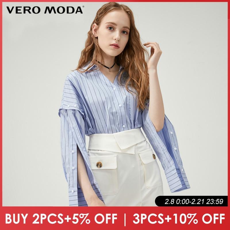 Vero Moda 100 % Cotton Removable Sleeve Shirt | 319305507