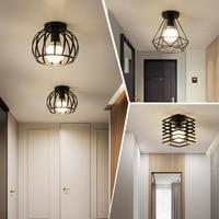 Железный проход потолочные светильники минималистский скандинавский Ретро стиль, балкон, потолочный светильник для кухни фойе железная Вх...