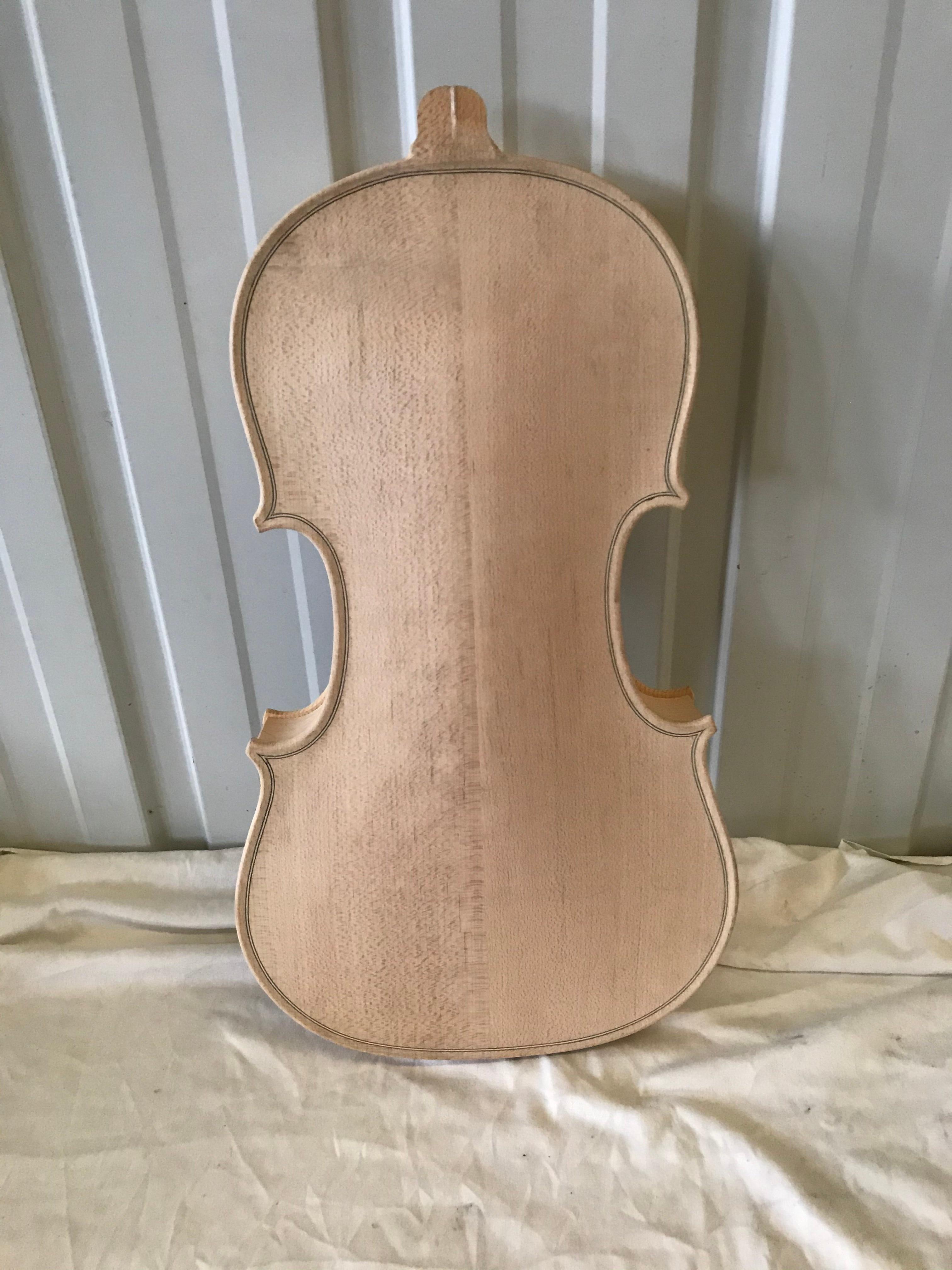 100% Handmade White 4/4 Violin Body Unfinished Solid Wood Blank Violin Barrel  Stradivarius Violin enlarge