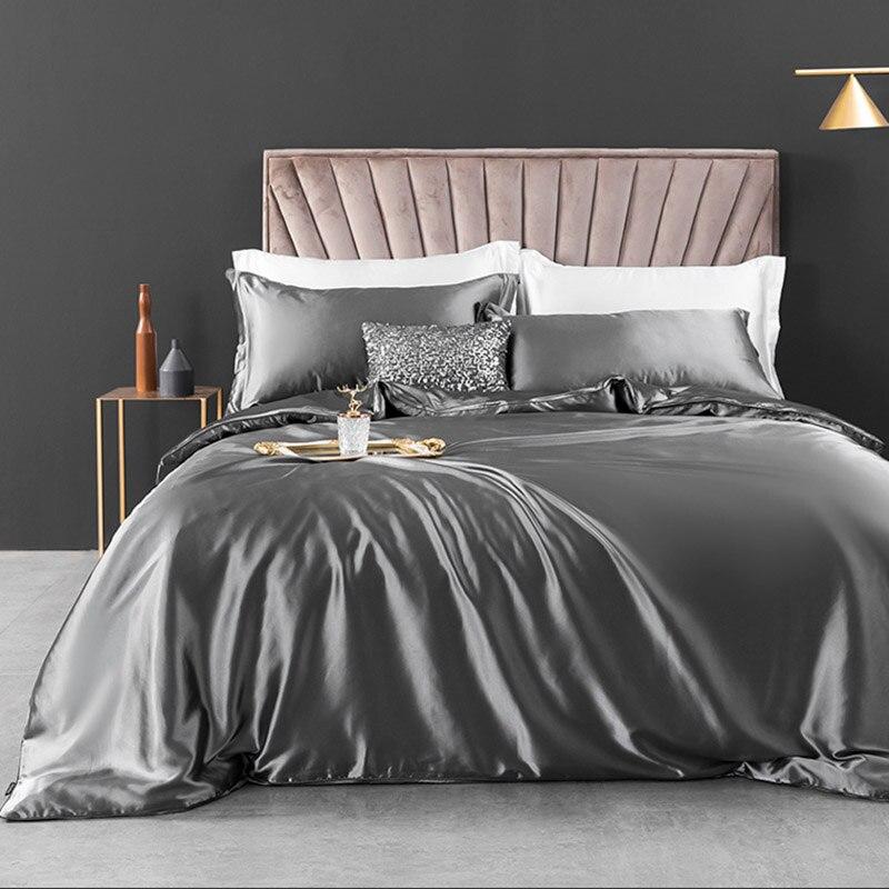 بلون الصيف حاف الغطاء الملك المعزي طقم سرير غطاء لحاف مع ورقة 4 قطعة