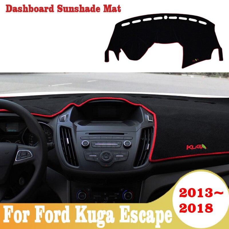 Para Ford Kuga Escape 2013-2018, cubierta del salpicadero del coche, alfombrilla antideslizante, alfombrilla dashmat, Parasol, tablero, alfombra, alfombrilla de estilo de coche