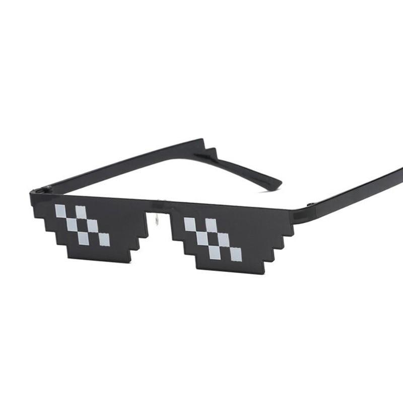 Очки солнцезащитные женские/мужские с пиксельными линзами 8 Bit MLG, Брендовые очки для вечеринки Thug Life, винтажные, 2020