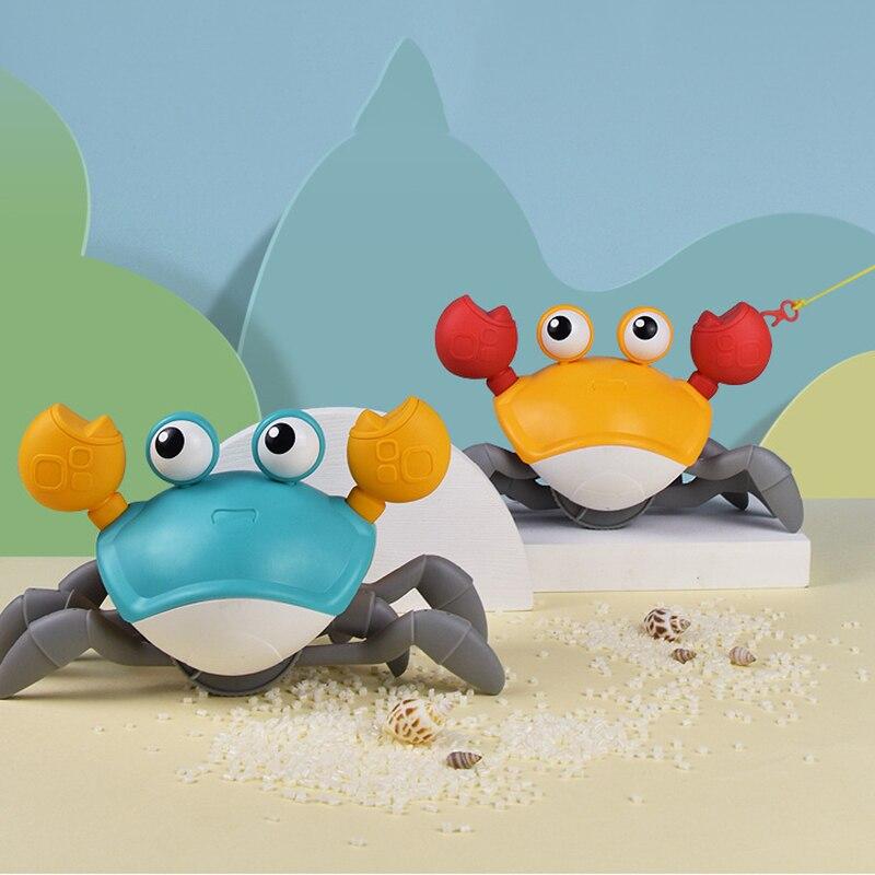 Juguetes de baño de dibujos animados, juguetes flotantes de cangrejo grande de playa, juguetes de natación para niños, juguetes para arrastre de bebé, juguetes clásicos de baño, juguetes acuáticos para bebé